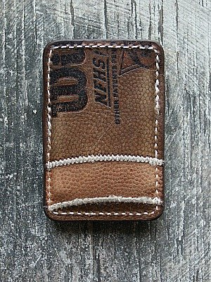 Front Pocket Wallet Built From Old Footballs