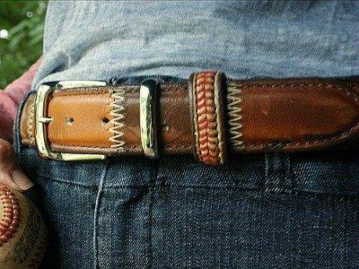 Baseball Glove Leather Belt