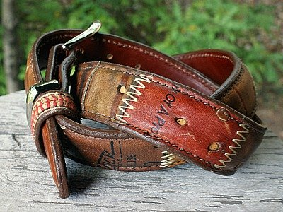 Belt made from Baseball Glove leather