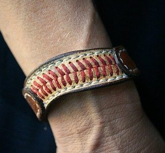 bracelet built from baseball leather -- vvego.com