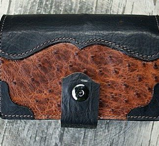 Notepad Cover made from Alligator leather with bison accents -- vvego.com