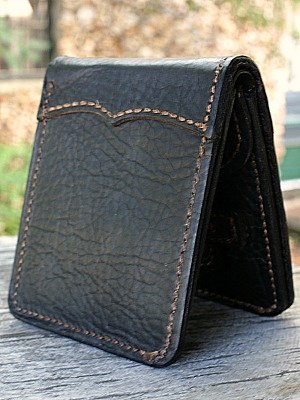 Custom Traditional Bi Fold Wallet Featured In Genuine Bison Leather