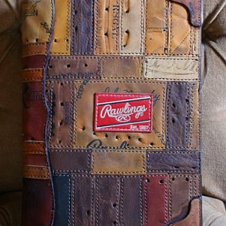 Custom Notepad Cover Shown In Rawlings Baseball Glove Leather