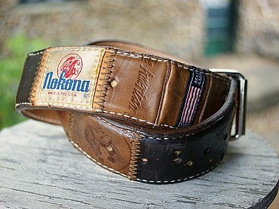 nokona baseball glove leather belt