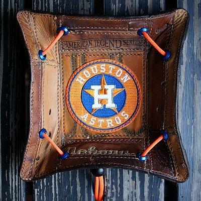 Custom Astros Valet Tray Built From Baseball Glove Leather