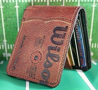 bi fold wallet made from Wilson football leather -- vvego.com