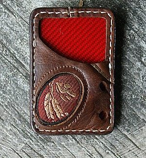 front pocket vvault wallet made from Nokona baseball glove leather