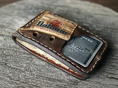 Custom Magnetic Bi Fold Wallet Featured In Nokona Glove Leather