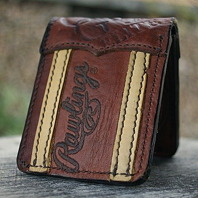 Custom Traditional Bi Fold Wallet Featured In Rawling Glove Leather