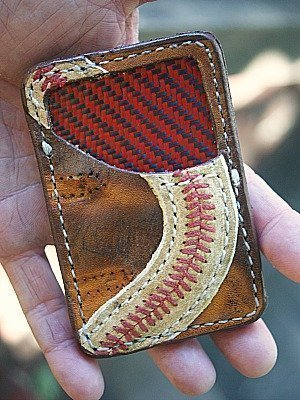Custom Vvault Front Pocket Wallet Built From Baseball Glove Leather