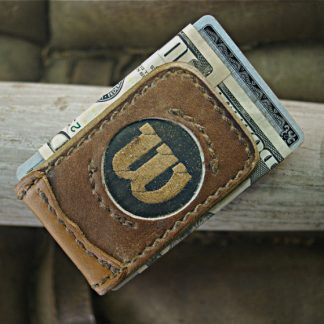 Baseball Glove Leather Money Clip