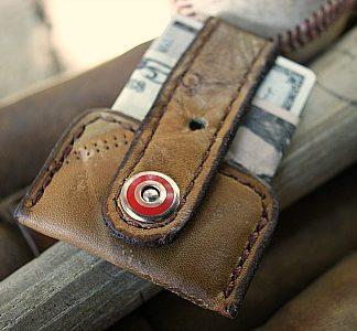 Leather Baseball Glove Wallet — the Vvapor