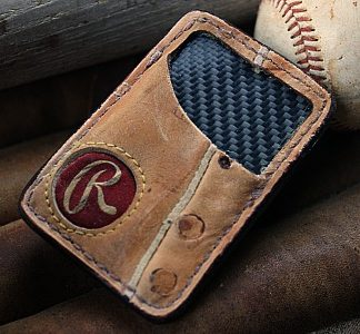 Recycled Baseball Glove Front Pocket Wallet