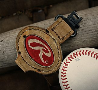 Car Keychain Made from Baseball Glove Leather