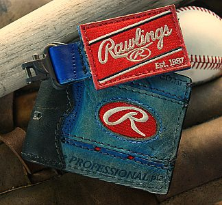 All American Custom Baseball Wallet/Key Fob Combo