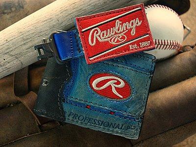 All American Custom Baseball Wallet/Key Fob Combo