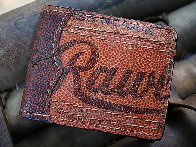 Bifold Wallet Made From Genuine Basketball Leather (An MVP Exclusive)